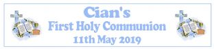 Personalised Blue Cross Communion Banner